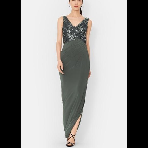Lauren Ralph Lauren Dresses | Ralph Lauren Sequin Grey Vneck Jersey ...